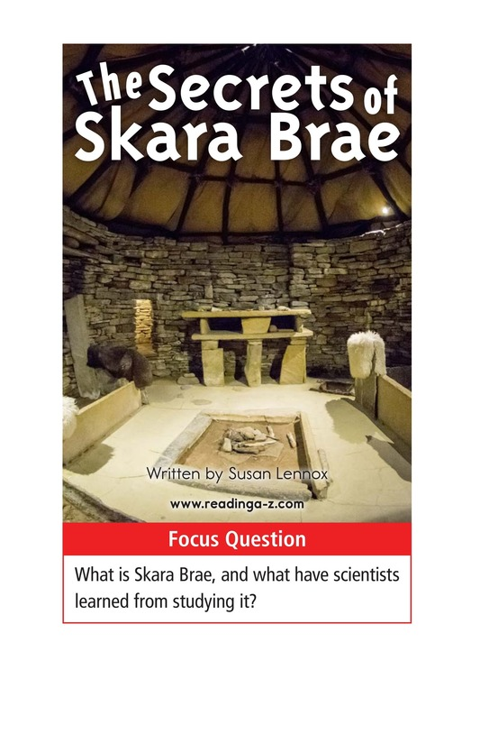 Book Preview For The Secrets of Skara Brae Page 1