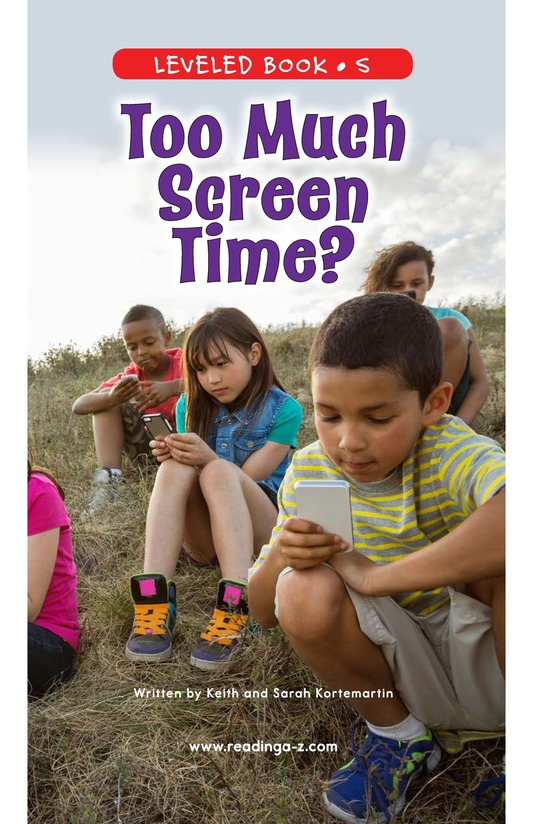 Book Preview For Too Much Screen Time? Page 0