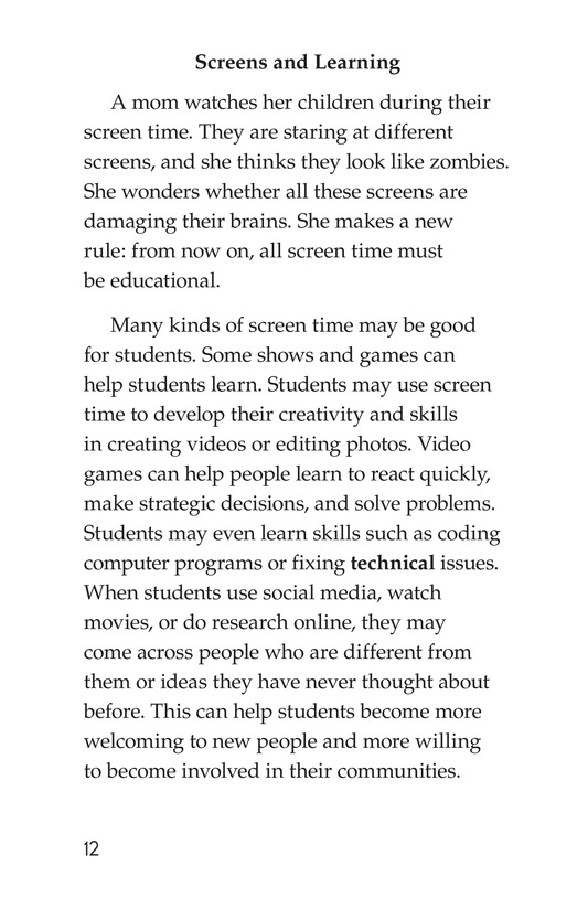 Book Preview For Too Much Screen Time? Page 12