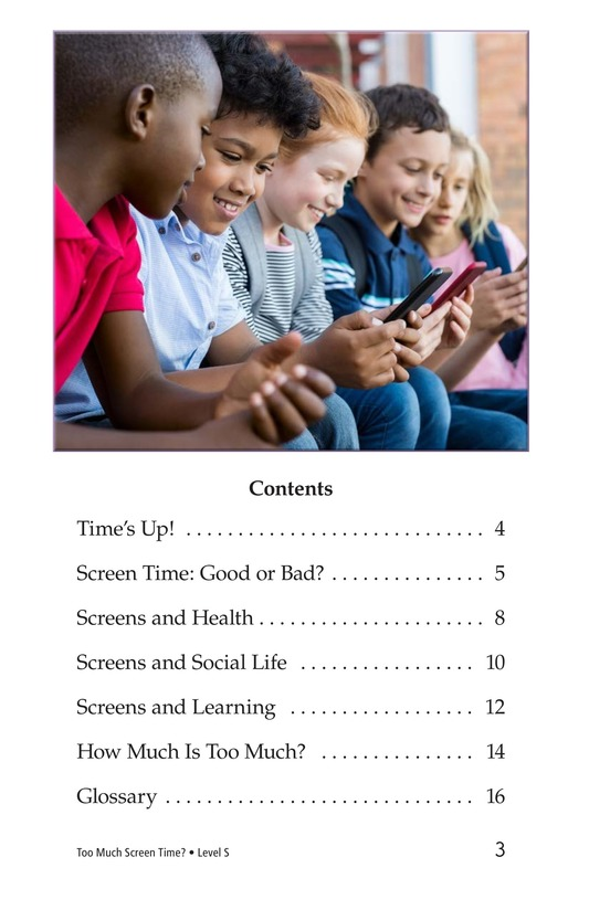 Book Preview For Too Much Screen Time? Page 3
