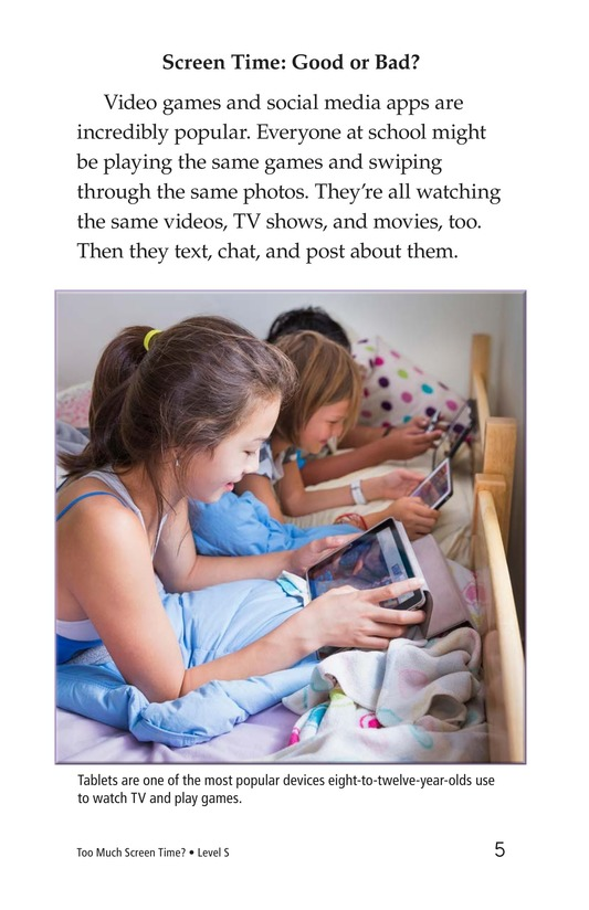 Book Preview For Too Much Screen Time? Page 5