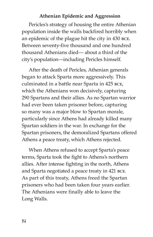 Book Preview For The Peloponnesian War: Athens Versus Sparta Page 14