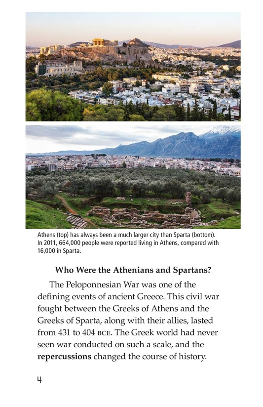 Book Preview For The Peloponnesian War: Athens Versus Sparta Page 4