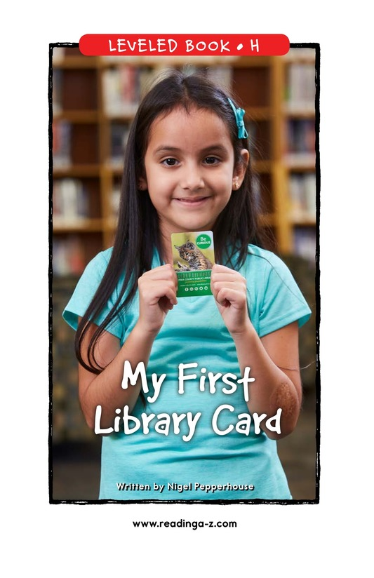 Book Preview For My First Library Card Page 0