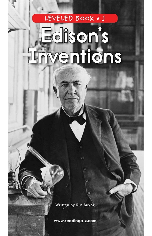 Book Preview For Edison's Inventions Page 0