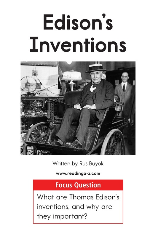 Book Preview For Edison's Inventions Page 1