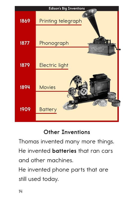 Book Preview For Edison's Inventions Page 14