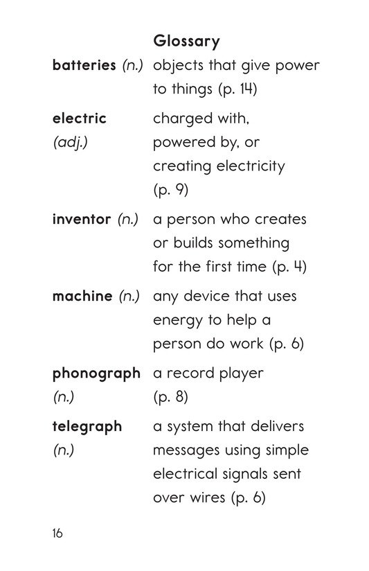 Book Preview For Edison's Inventions Page 16