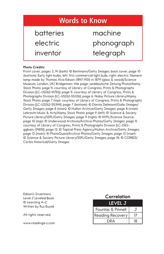 Book Preview For Edison's Inventions Page 2