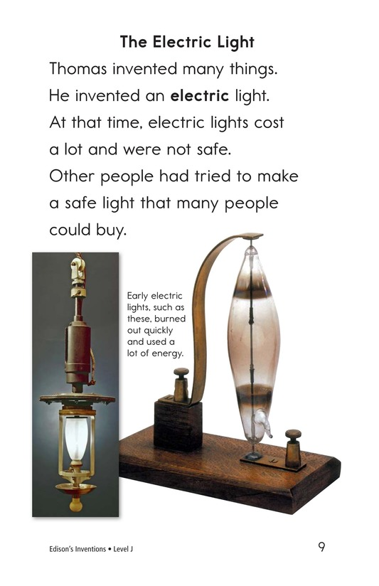 Book Preview For Edison's Inventions Page 9