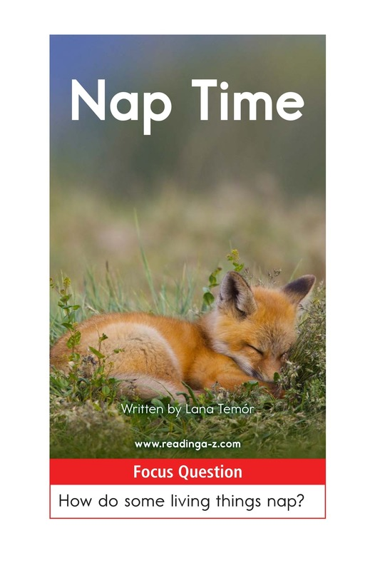 Book Preview For Animals Nap Page 1
