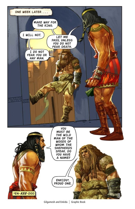 Book Preview For Gilgamesh and Enkidu Page 4