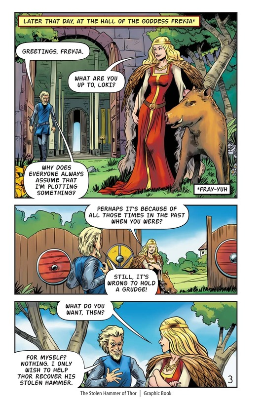 Book Preview For The Stolen Hammer of Thor Page 4