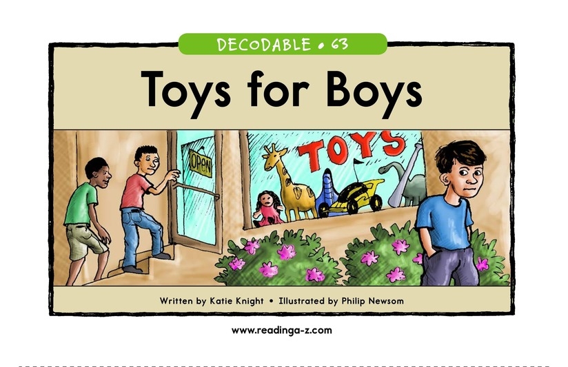 Book Preview For Toys for Boys Page 1