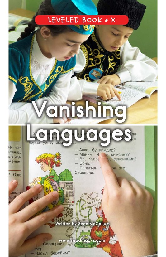 Book Preview For Vanishing Languages Page 0