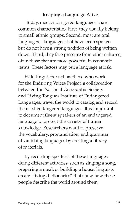 Book Preview For Vanishing Languages Page 13