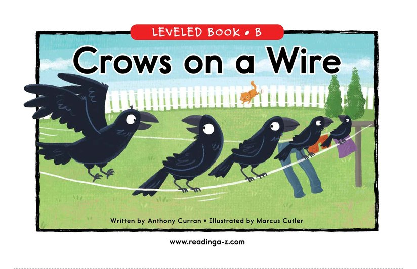 Book Preview For Crows on a Wire Page 0