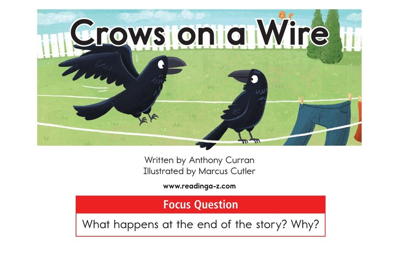 Book Preview For Crows on a Wire Page 1