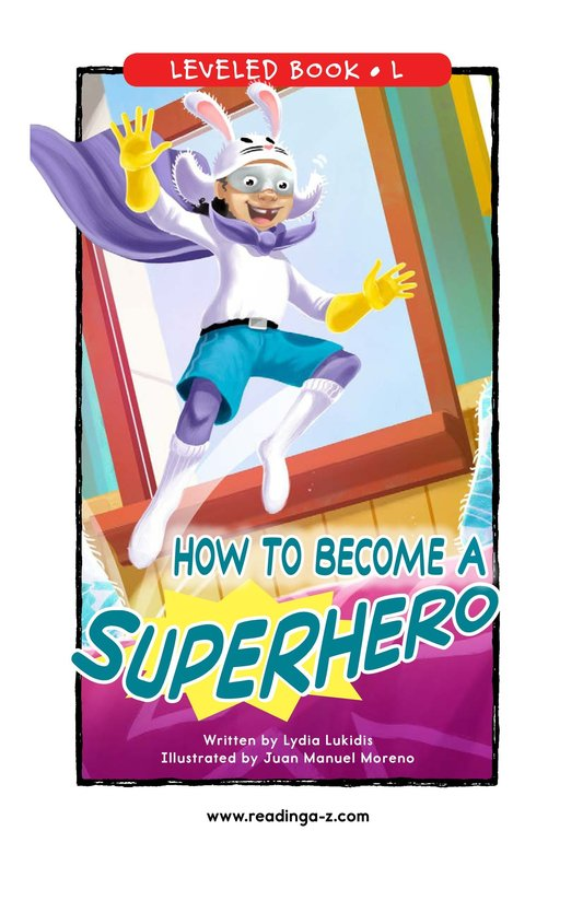 Book Preview For How to Become a Superhero Page 0