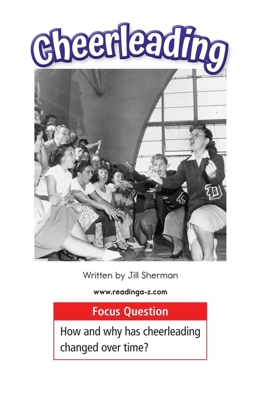 Book Preview For Cheerleading Page 1