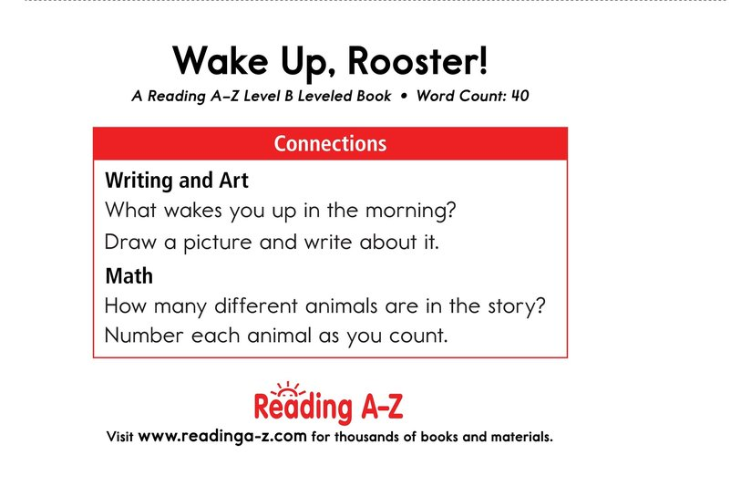 Book Preview For Wake Up, Rooster! Page 11