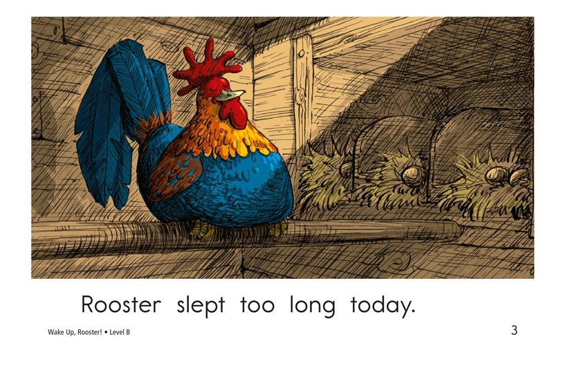 Book Preview For Wake Up, Rooster! Page 3