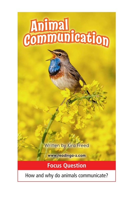 Book Preview For Animal Communication Page 1