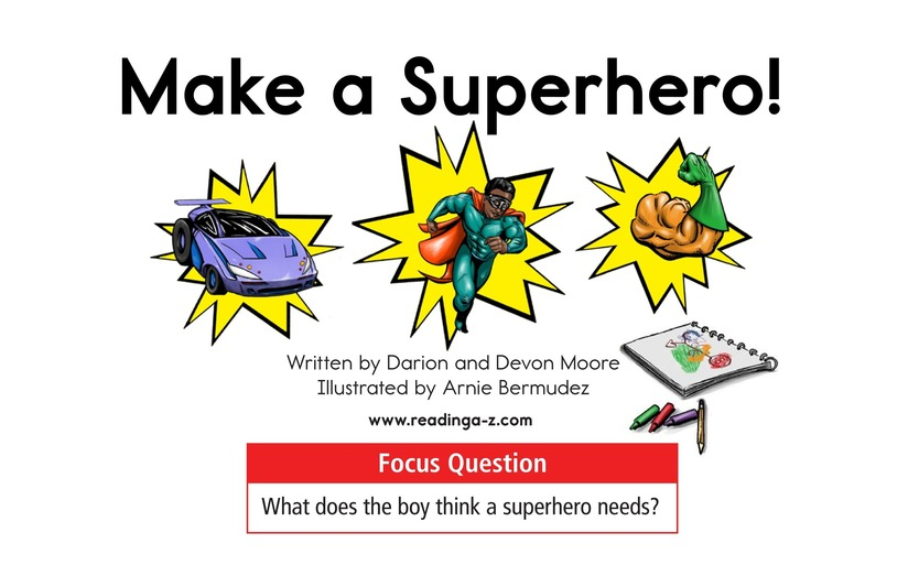Book Preview For Make a Superhero! Page 1