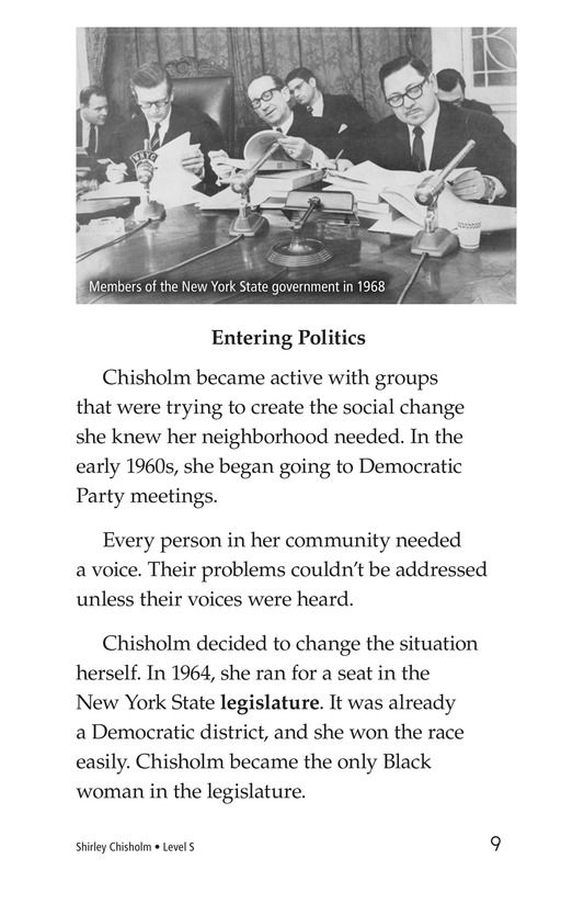 Book Preview For Shirley Chisholm Page 9