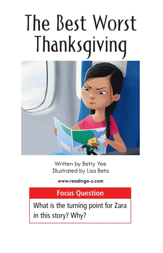 Book Preview For The Best Worst Thanksgiving Page 1