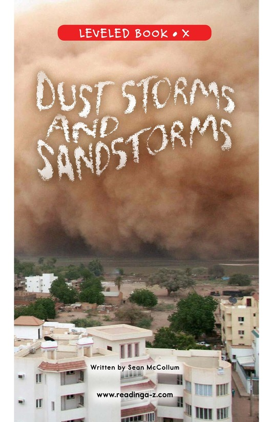 Book Preview For Dust Storms and Sandstorms Page 0