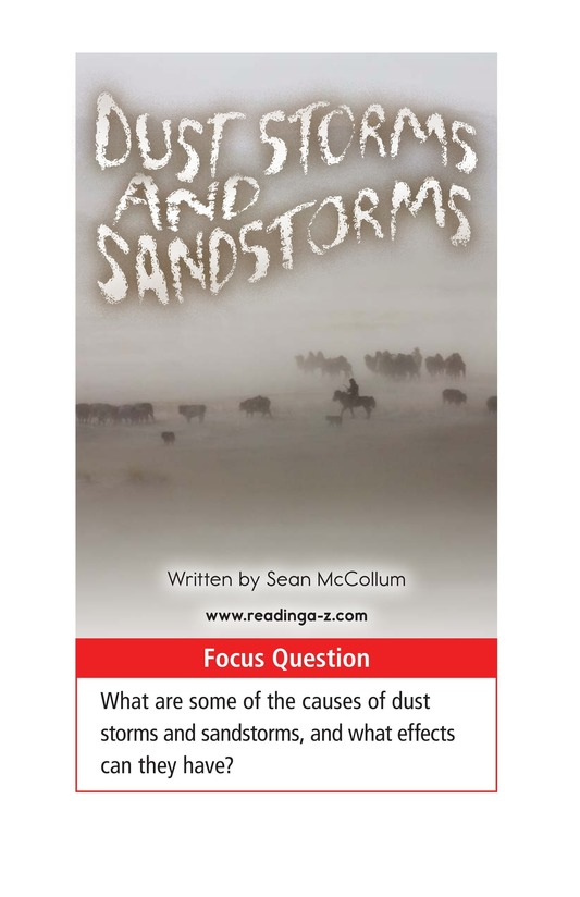 Book Preview For Dust Storms and Sandstorms Page 1