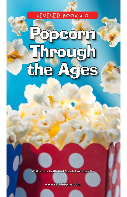 Book Preview For Popcorn Through the Ages Page 0