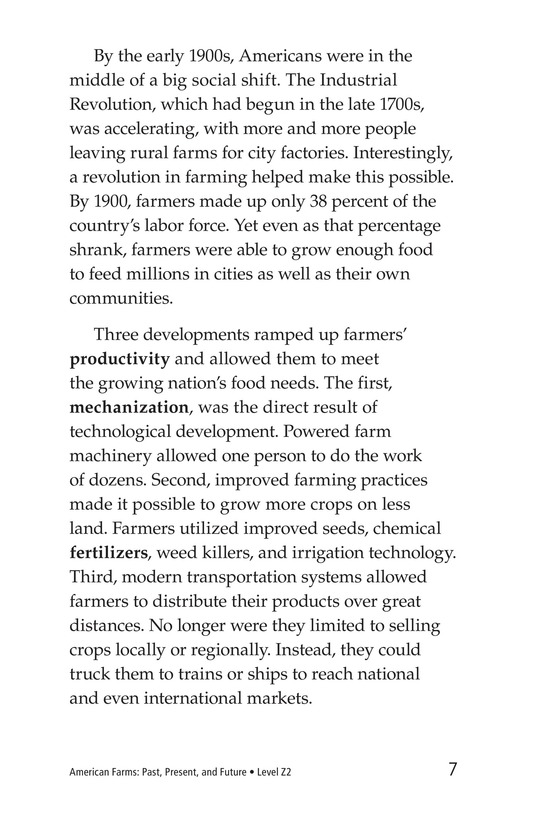 Book Preview For American Farms: Past, Present, and Future Page 7