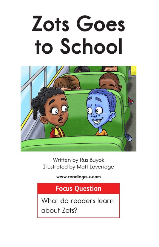 Book Preview For Zots Goes to School Page 1