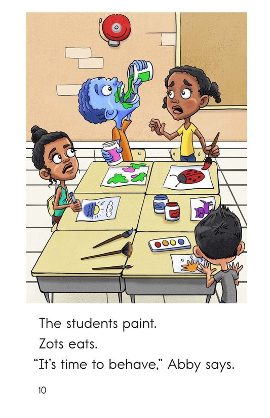 Book Preview For Zots Goes to School Page 10