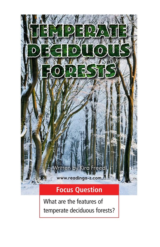 Book Preview For Temperate Deciduous Forests Page 1