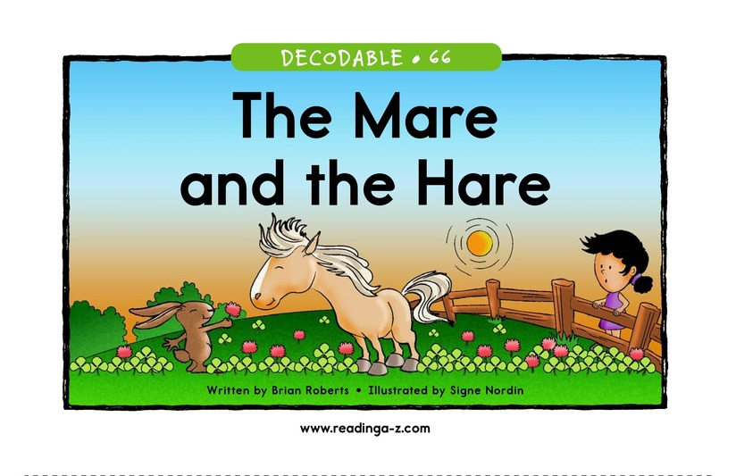 Book Preview For The Mare and the Hare Page 1