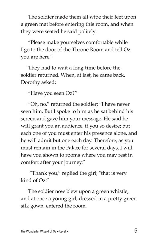 Book Preview For The Wonderful Wizard of Oz (Part 6) Page 5