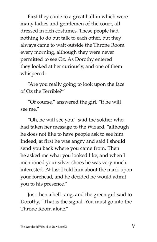 Book Preview For The Wonderful Wizard of Oz (Part 6) Page 9