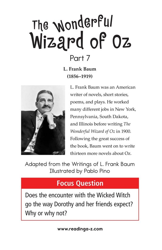 Book Preview For The Wonderful Wizard of Oz (Part 7) Page 1