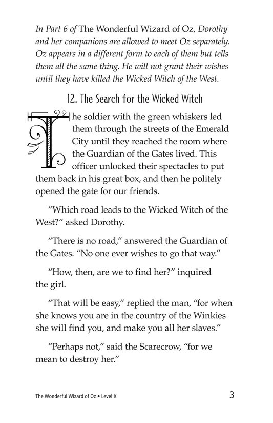 Book Preview For The Wonderful Wizard of Oz (Part 7) Page 3