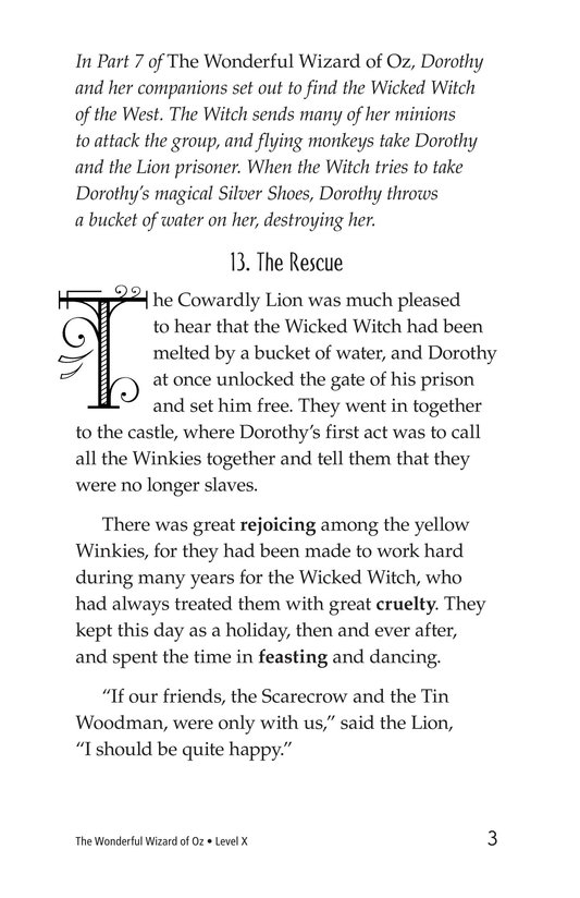 Book Preview For The Wonderful Wizard of Oz (Part 8) Page 3