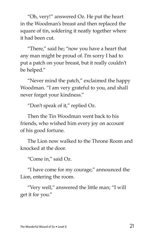 Book Preview For The Wonderful Wizard of Oz (Part 9) Page 21