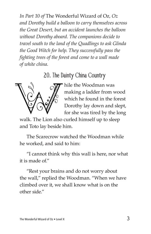 Book Preview For The Wonderful Wizard of Oz (Part 11) Page 3