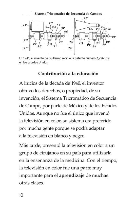 Book Preview For Guillermo González Camarena, un inventor que inspira Page 10