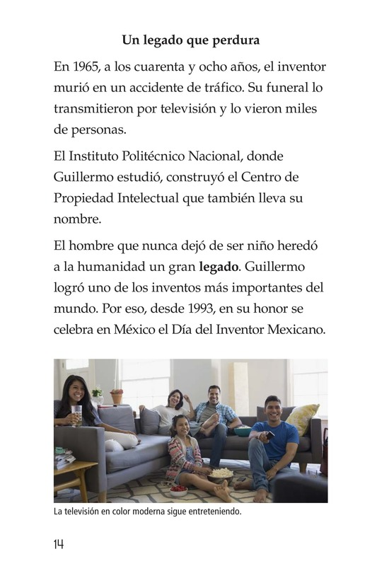 Book Preview For Guillermo González Camarena, un inventor que inspira Page 14