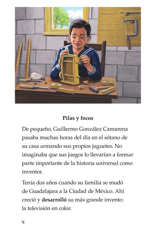 Book Preview For Guillermo González Camarena, un inventor que inspira Page 4