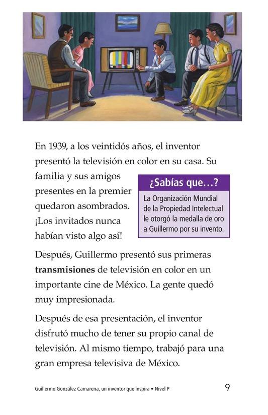 Book Preview For Guillermo González Camarena, un inventor que inspira Page 9