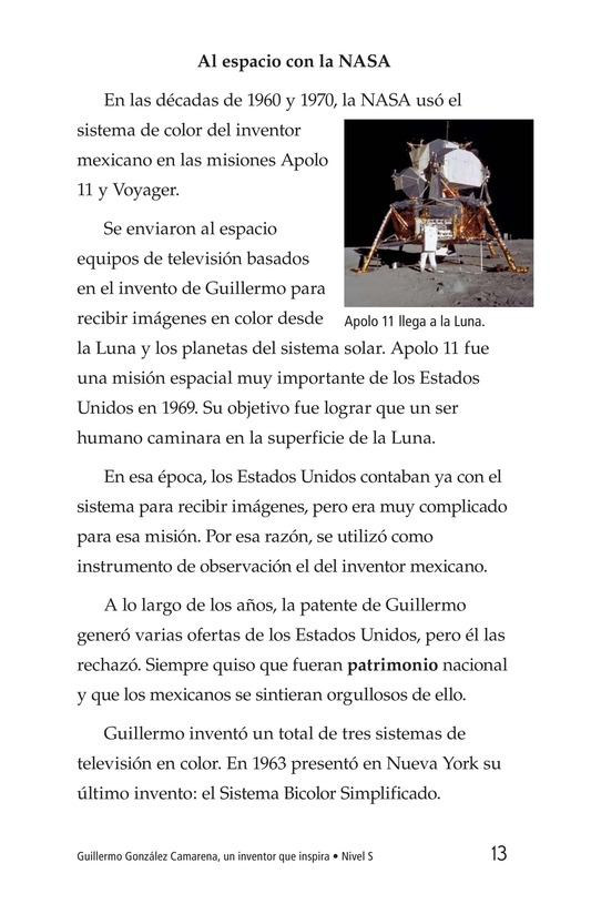 Book Preview For Guillermo González Camarena, un inventor que inspira Page 13